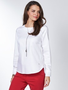 Extraglatt Pima Cotton Shirtbluse