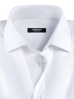 Extraglatt-Hemd Kent-Kragen Weiß Detail 4