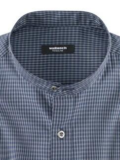 Stehkragen Ahoi-Shirt Blau/Weiß Detail 4