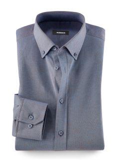 Pique-Hemd T-Shirt-Komfort Blaubraun Detail 1