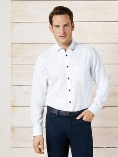Softcotton-Hemd Weiß Detail 2
