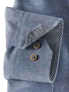 Baumwoll-Seiden-Hemd Uninah Blau Detail 4