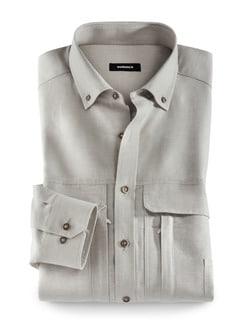 10-Taschen-Safarihemd Beige Detail 1