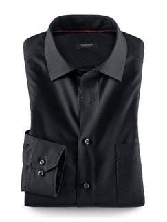 Extraglatt-Hemd Black & White Schwarz Detail 1