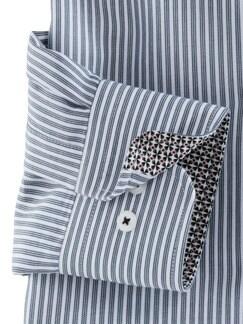 Extraglatt-Hemd Burgund Streifen Detail 4