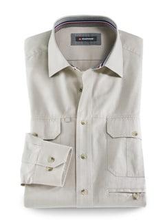Klepper Multi-Taschenhemd Beige Detail 1