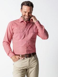 Klepper Multi-Taschenhemd Rot Detail 2
