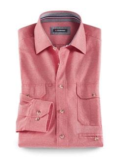 Klepper Multi-Taschenhemd Rot Detail 1