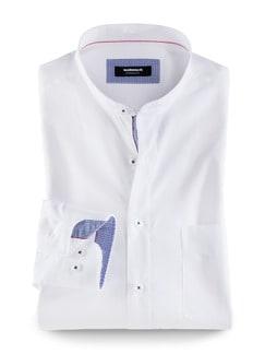 Extraglatt-Hemd Wechselkragen Weiß Detail 1