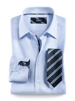 Extraglatt-Krawatten-Hemd Oxford Streifen Detail 1