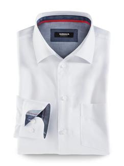 Extraglatt-Hemd High Class Weiß Detail 1