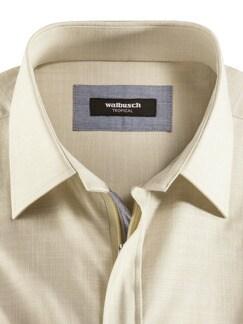 Reißverschluss-Hemd Tropical Beige Detail 3