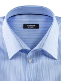Extraglatt-Hemd Naturstretch Streifen Bleu Detail 3