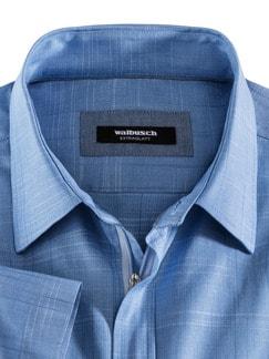 Reißverschluss-Hemd Tropical Blau Detail 3
