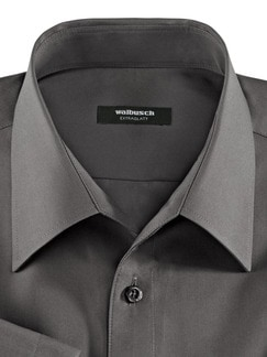 Extraglatt-Hemd Walbusch-Kragen Anthrazit Detail 3