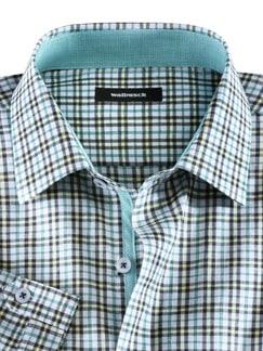 Sommerhemd Miramar Karo Blau/Gelb Detail 3