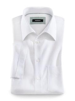 Leinenmix-Stretch-Hemd Weiß Detail 1