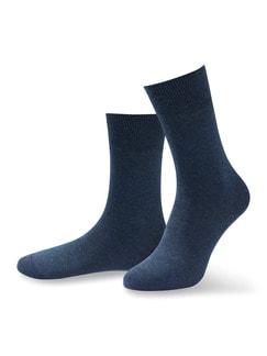 Pima Cotton Aktivsocke 2er-Pack Jeansblau Detail 1