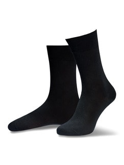 Pima Cotton Socke 2er-Pack Schwarz Detail 1