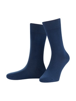 Freizeitsocke Soft-Cotton 2er-Pack Blau Detail 1