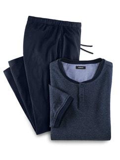 Pyjama Minimaljacquard Marine Detail 1