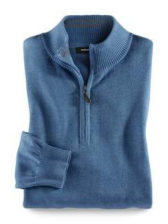 Troyer Cashmere Touch Hellblau Detail 1