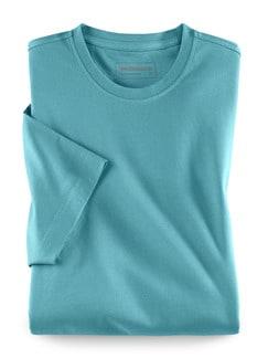 T-Shirt Rundhalsausschnitt Aqua Detail 1