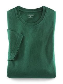 T-Shirt Rundhalsausschnitt Flaschengrün Detail 1