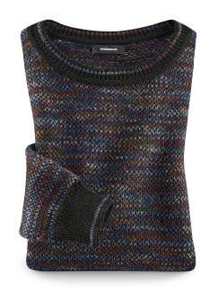 Alpaka-Pullover Farbspektrum Mehrfarbig Detail 1