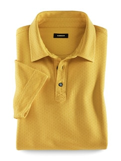 Baumwoll-Polo Krawateria Gelb Detail 1