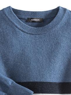 Streifenpullover Cashmere-Mix Jeansblau/Marin Detail 4