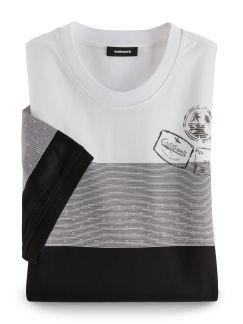 Rundhals T-Shirt Santa Cruz Weiß/Schwarz Detail 1