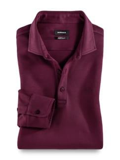 Premium Hemdenpolo SUPIMA Bordeaux Detail 1