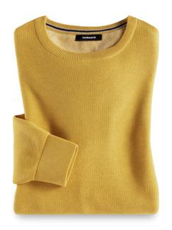 Struktur-Pullover Soft Cotton Gelb Detail 1