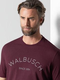 Rundhals Shirt Walbusch Edition Burgund Detail 4