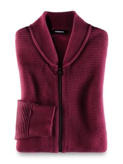 Zip-Jacke Ottoman Bordeaux Detail 1