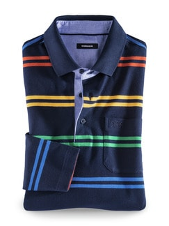 Streifen Polo Supersoft Multicolor Detail 1