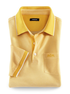 Extraglatt-Polo Bicolor Gelb Detail 1