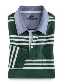 Streifen-Shirt Supersoft Dunkelgrün gestreift Detail 1