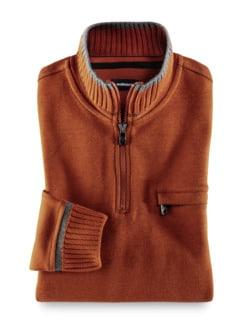 Zip-Shirt Softbund Terra Detail 1