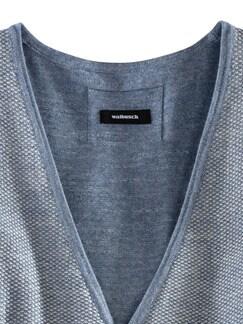 Strickweste Natural Cotton Hellblau/Natur Detail 4
