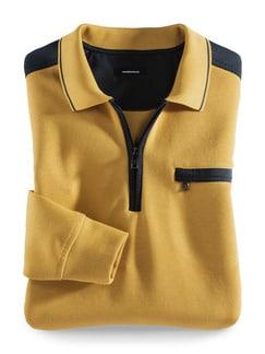 Extraglatt-Polo-Pullover 2.0 Safran Detail 1