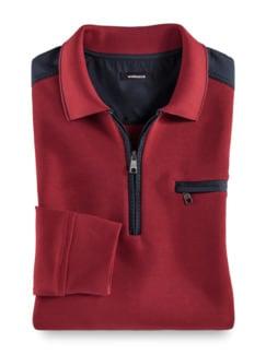 Extraglatt-Polo-Pullover 2.0 Dunkelrot Detail 1