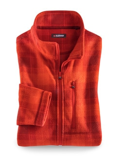 Klepper Karo-Fleecejacke Orange Detail 1