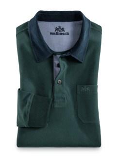 Rugby-Shirt Supersoft Smaragd Detail 1