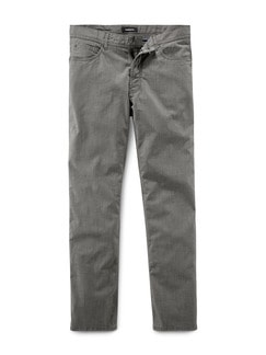 Cross Twill Five Pocket Grau Detail 1