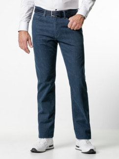 Jogger-Jeans Five Pocket Glencheck Marine Detail 2