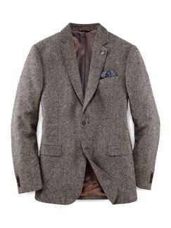 Tweed-Sakko Haselnussbraun Detail 1