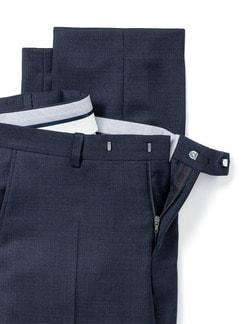 Schurwoll-Anzug-Hose S100 Dunkelblau Detail 4