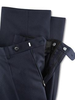 Nadelstreifen Anzug-Hose Marine Detail 4
